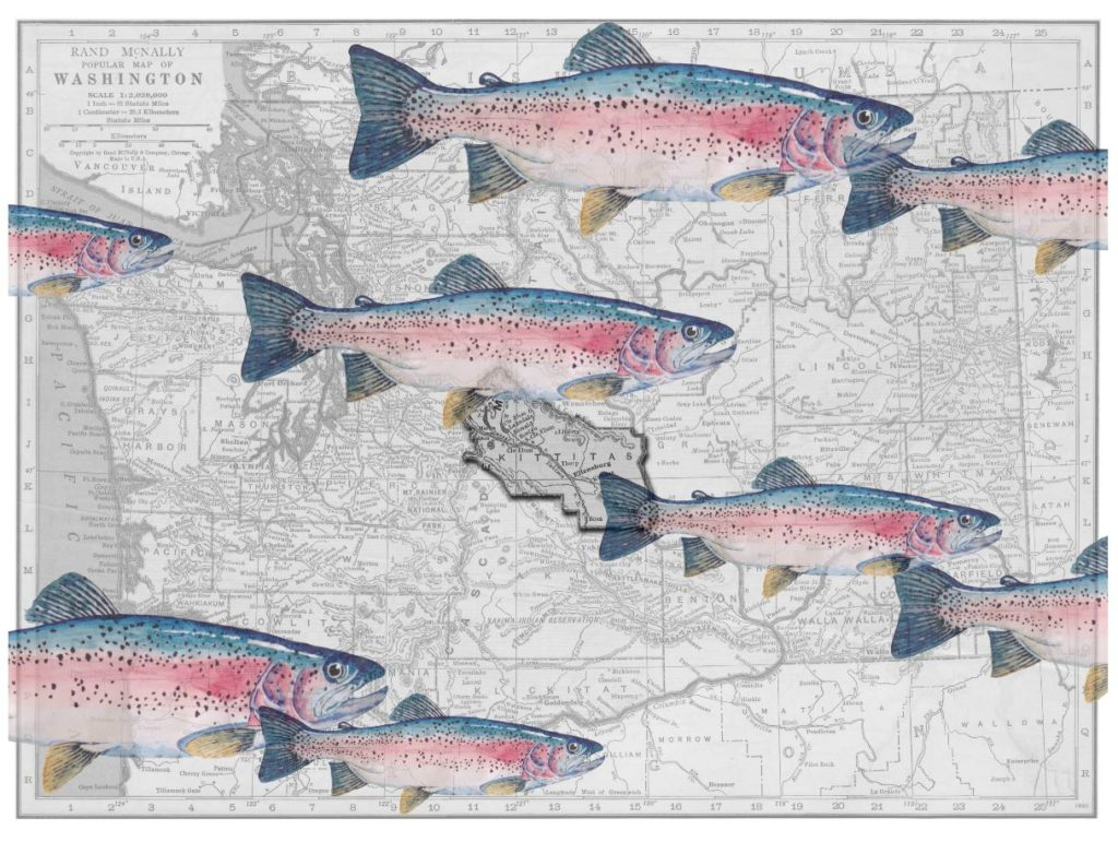 Gregg Schlanger | Rainbows over Kittitas County, 2018 | Digital Collage